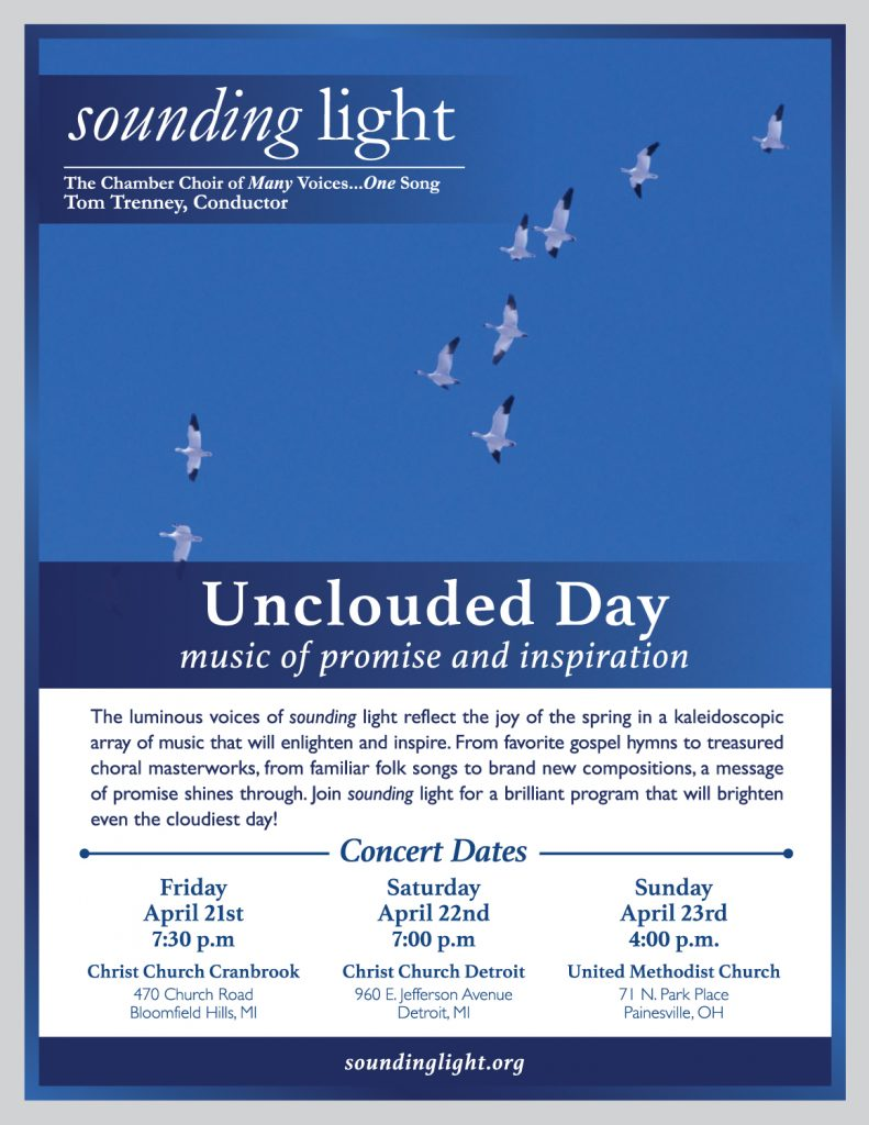 sounding-light Unclouded Day poster